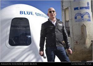 JEFF BEZOS BLUE ORIGIN SPACE AMAZON BILLION