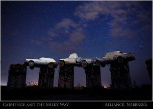 Carhenge Sculpture in Alliance, Nebraska replicates England's Stonehenge.